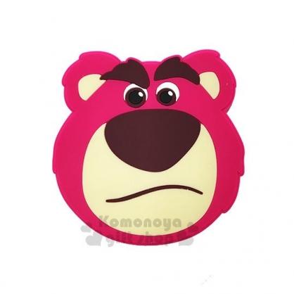 〔小禮堂〕迪士尼 熊抱哥 矽膠造型無線充電器《粉.大臉》