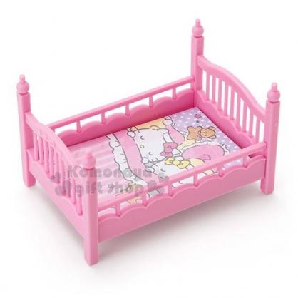 〔小禮堂〕Hello Kitty 床造型置物盒附便條紙《粉》可堆疊.收納盒.飾品盒