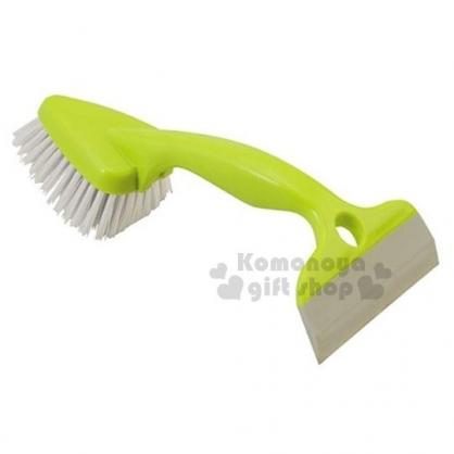 〔小禮堂〕日製三角多功能刮水清潔刷《綠.雙頭.三角》刮水板