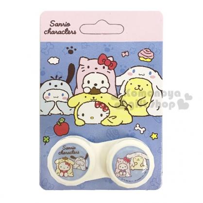 〔小禮堂〕Sanrio 大集合 隨身置物盒《黃.變裝》空盒.藥盒