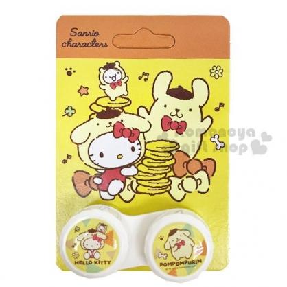 〔小禮堂〕Sanrio 大集合 隨身置物盒《黃.kitty/布丁狗.變裝》空盒.藥盒