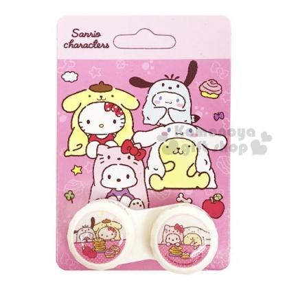 〔小禮堂〕Sanrio 大集合 隨身置物盒《粉.變裝.蘋果》空盒.藥盒