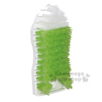 〔小禮堂〕TOWA 日製軟骨清潔刷《綠白.橢圓》浴室刷.手握刷