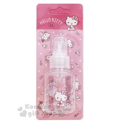 〔小禮堂﹞Hello Kitty 噴霧式空瓶《粉.化妝品.點點褲》50ml.空罐.分裝瓶罐