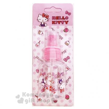 〔小禮堂﹞Hello Kitty 噴霧式空瓶《粉.草莓.吊帶褲》50ml.空罐.分裝瓶罐
