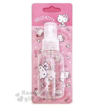 〔小禮堂﹞Hello Kitty 噴霧式空瓶《粉.化妝品.點點褲》75ml.空罐.分裝瓶罐