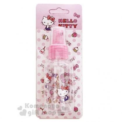 〔小禮堂﹞Hello Kitty 噴霧式空瓶《粉.草莓.吊帶褲》75ml.空罐.分裝瓶罐