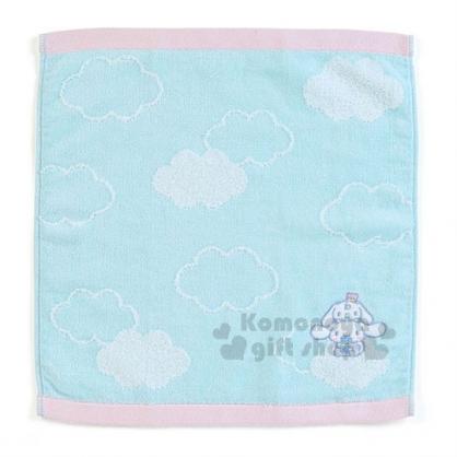 〔小禮堂〕大耳狗 棉質方形毛巾《淡綠.雲朵.坐姿》34x36cm.我的甜心系列