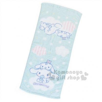 〔小禮堂〕大耳狗 棉質長毛巾《淡綠.雲朵坐姿》34x76cm.我的甜心系列