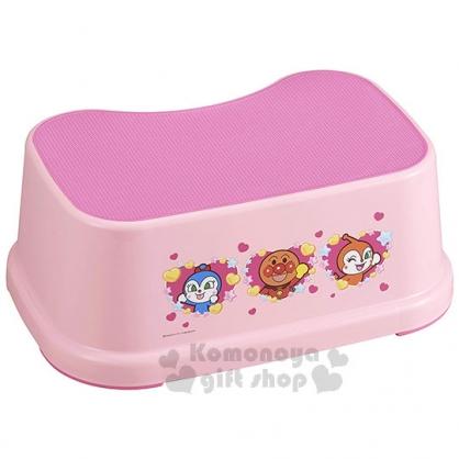 〔小禮堂〕麵包超人 日製塑膠防滑浴椅《粉.招手.愛心》矮凳.板凳.墊腳椅