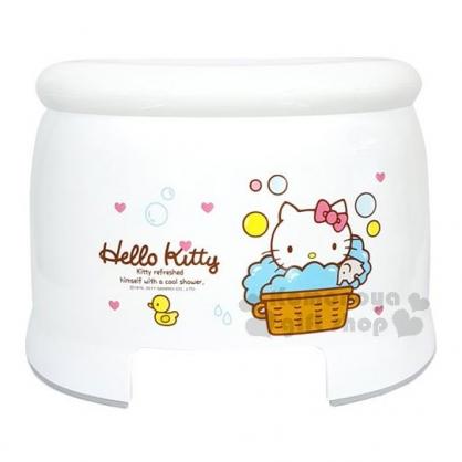 〔小禮堂〕Hello Kitty 塑膠浴椅《白.泡泡.愛心》板凳.矮凳.墊腳椅