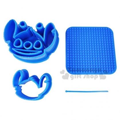 〔小禮堂〕迪士尼 史迪奇 造型壓模組附盒《2入.藍.大臉》料理模具