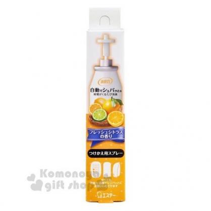 〔小禮堂〕雞仔牌 除臭機補充瓶《黃》39ml.柑橘香味.芳香劑
