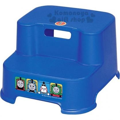 〔小禮堂〕湯瑪士小火車 日製塑膠階梯椅《藍.大臉》矮凳.浴椅.墊腳椅