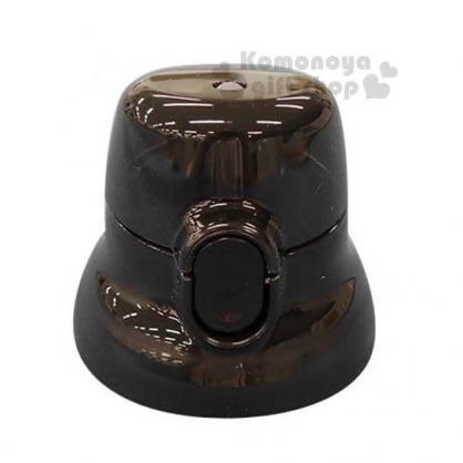 〔小禮堂〕SKATER 日製直飲式水壺蓋《黑》480ml.安全扣壓彈跳蓋