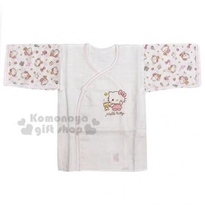 〔小禮堂〕台灣佳美 Hello Kitty 嬰兒紗布肚衣《白.站姿.小熊》童裝.棉衣
