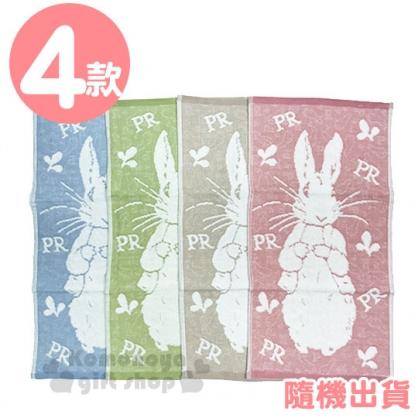〔小禮堂〕彼得兔 棉質長毛巾《4款隨機.站姿.粉/棕/藍/綠》27x52cm