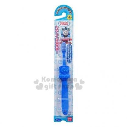 〔小禮堂〕湯瑪士火車 日製造型兒童牙刷《藍.大臉》1.5歲.盥洗用具.口腔清潔