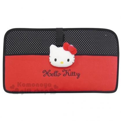 〔小禮堂〕Hello Kitty 車用椅背置物架《黑紅》收納架.經典系列汽車百貨