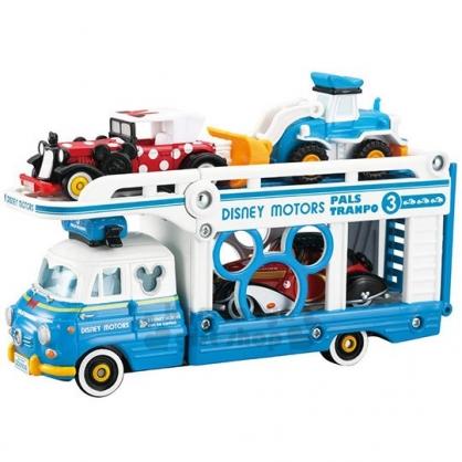 〔小禮堂〕迪士尼 唐老鴨 TOMICA小汽車《藍白.運輸車》模型.公仔.玩具車