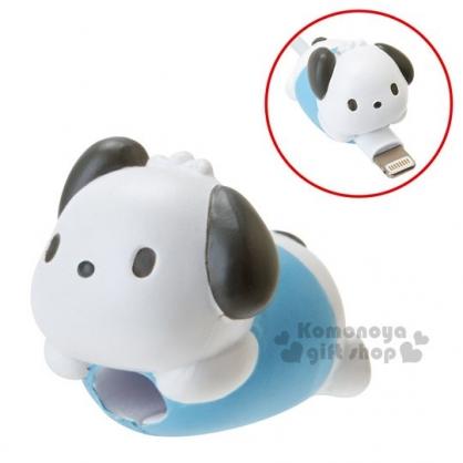 〔小禮堂〕帕恰狗 造型傳輸線保護套《藍白.趴姿》充電線.iPhone線套