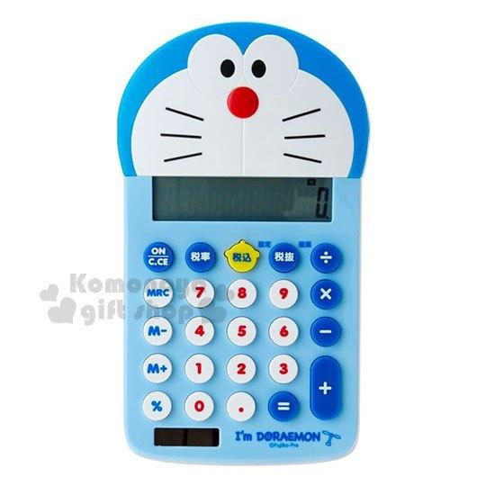 〔小禮堂〕哆啦A夢 12位元造型計算機《藍.大臉》辦公事務用品