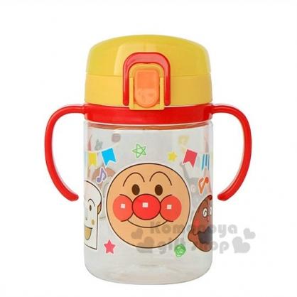 〔小禮堂〕麵包超人 幼兒彈蓋雙耳學習杯《紅黃.大臉》250ml.水壺.水杯