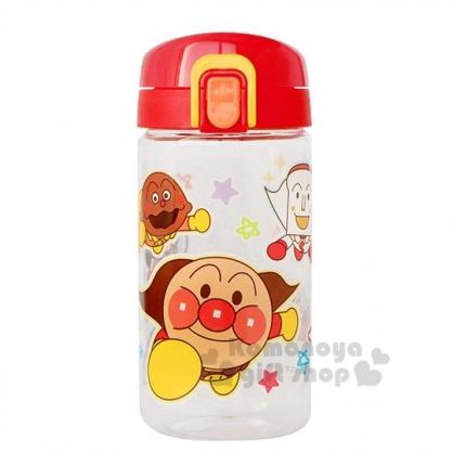 〔小禮堂〕麵包超人 幼兒彈蓋無把學習杯《紅黃.飛》350ml.水壺.水杯
