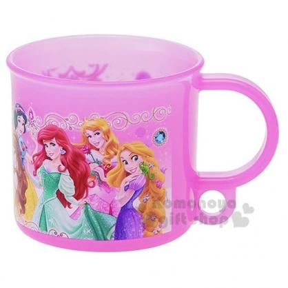 〔小禮堂〕迪士尼 公主 日製塑膠小水杯《粉.各角色》200ml.漱口杯