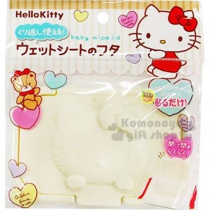 〔小禮堂〕Hello Kitty 立體浮雕濕紙巾蓋《米.大臉》濕巾盒蓋.銅板小物