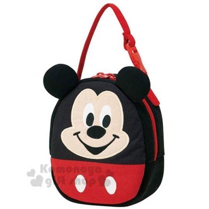 〔小禮堂〕迪士尼 米奇 造型棉質手提袋《黑.大臉》便當袋.兒童提包