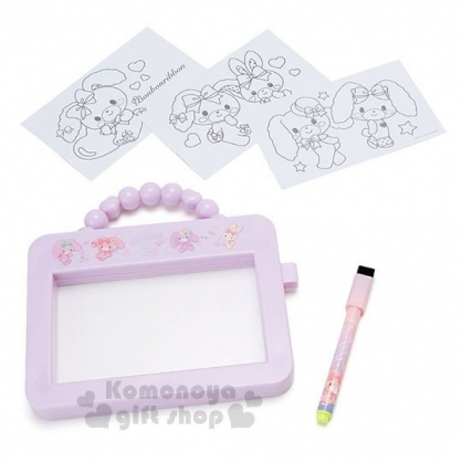 〔小禮堂〕蹦蹦兔 可提式畫板玩具附筆《紫.下午茶》繪圖玩具.兒童玩具