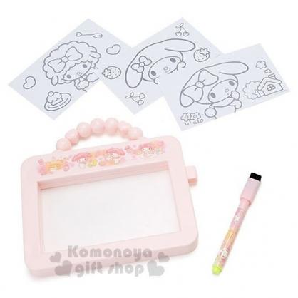 〔小禮堂〕美樂蒂 可提式畫板玩具附筆《粉.化妝品》繪圖玩具.兒童玩具