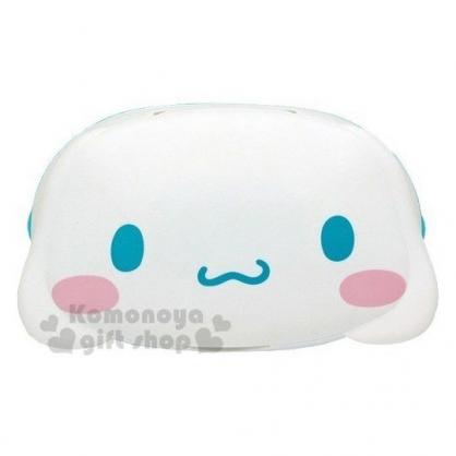 〔小禮堂〕大耳狗 日製造型濕紙巾盒《藍白.大臉》80抽.玻尿酸.紙巾