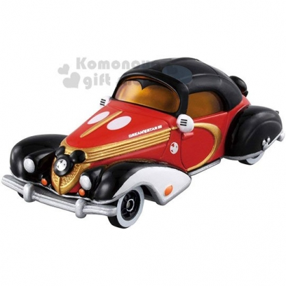 〔小禮堂〕迪士尼 米奇 TOMICA小汽車《黑紅.古董車.DM-10》10週年.公仔.玩具.模型