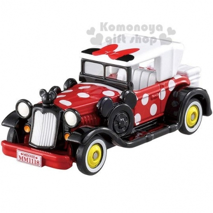 〔小禮堂〕迪士尼 米妮 TOMICA小汽車《黑紅.老爺車.DM11》公仔.玩具.模型