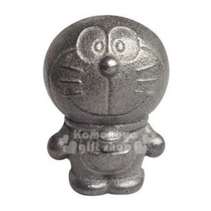 〔小禮堂〕哆啦A夢 南部鐵器 日製鐵玉《灰.站姿》補鐵.精緻盒裝