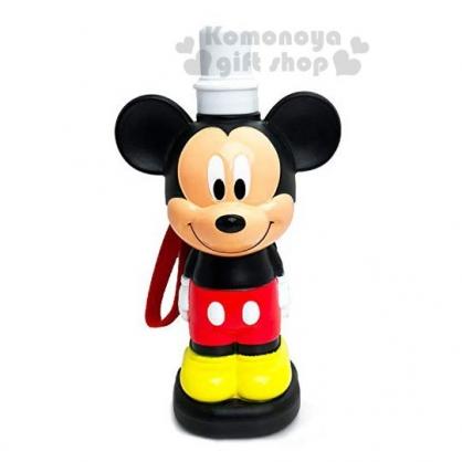 〔小禮堂〕迪士尼 米奇 造型塑膠水壺《黑紅.站姿》480ml.水瓶.學童水壺