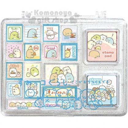 〔小禮堂〕角落生物 盒裝印章組《M.藍.蓋棉被》印泥.玩具章