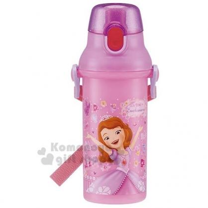 〔小禮堂〕迪士尼 蘇菲亞公主 日製直飲式水壺《粉.舉手.城堡》480ml.水瓶.兒童水壺