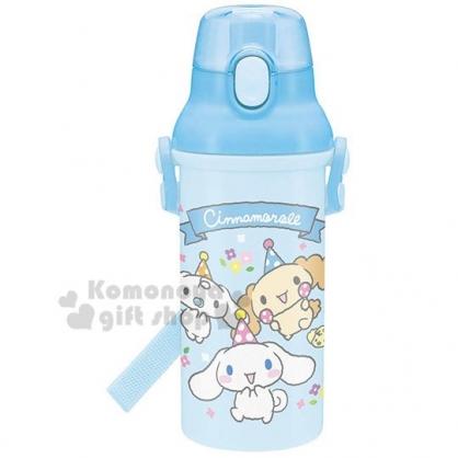 〔小禮堂〕大耳狗 日製直飲式水壺《藍.朋友》480ml.水瓶.兒童水壺