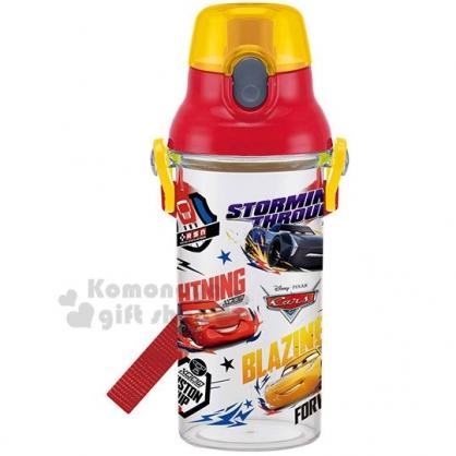 〔小禮堂〕迪士尼 閃電麥坤 日製直飲式水壺《紅.角色》480ml.水瓶.兒童水壺