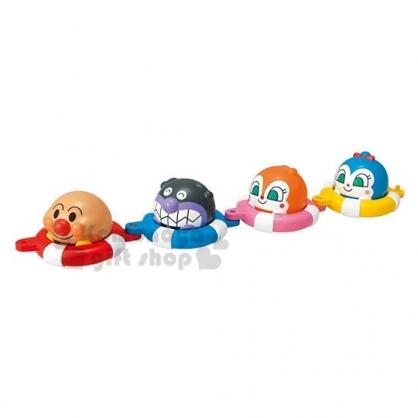 〔小禮堂〕麵包超人 泳圈造型矽膠洗澡玩具《大臉.透明盒裝》兒童玩具