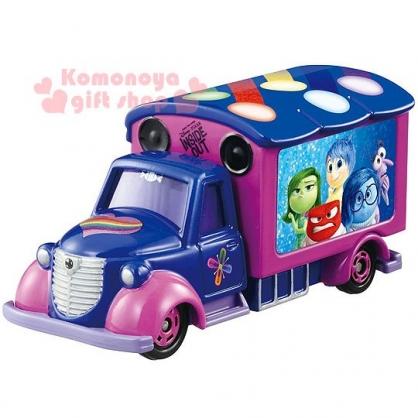 〔小禮堂〕迪士尼 腦筋急轉彎 TOMICA小汽車《紫.全員.電影宣傳車》經典造型值得收藏