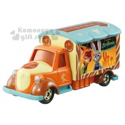 〔小禮堂〕迪士尼 動物方程式 TOMICA小汽車《橘.宣傳車》經典造型值得收藏