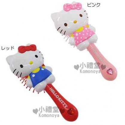 〔小禮堂〕Hello Kitty 立體人形梳子《2款選1.站姿.愛心鑽》實用可愛
