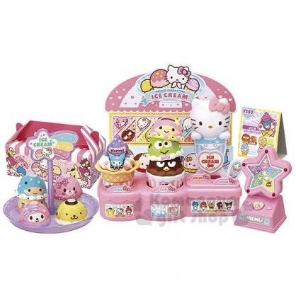 〔小禮堂〕Sanrio大集合 冰淇淋店玩具組《各角色.粉盒裝》兒童玩具.家家酒