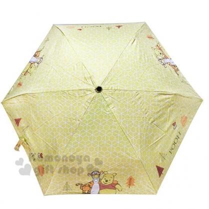 〔小禮堂〕迪士尼 小熊維尼 折疊雨陽傘《黃.站姿.跳跳虎》折傘.雨傘.雨具