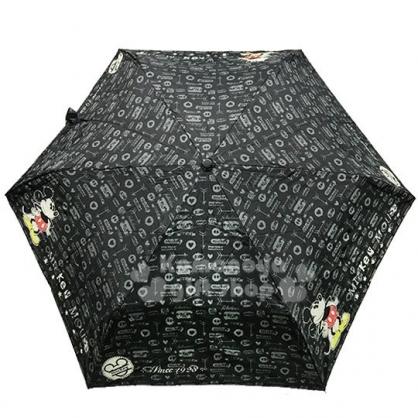〔小禮堂〕迪士尼 米奇 折疊雨陽傘《黑.站姿.撐腰》折傘.雨傘.雨具