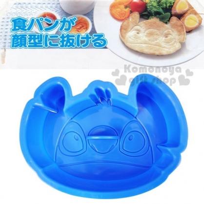〔小禮堂〕迪士尼 史迪奇 日製吐司壓模《藍.大臉》輕鬆打造趣味料理
